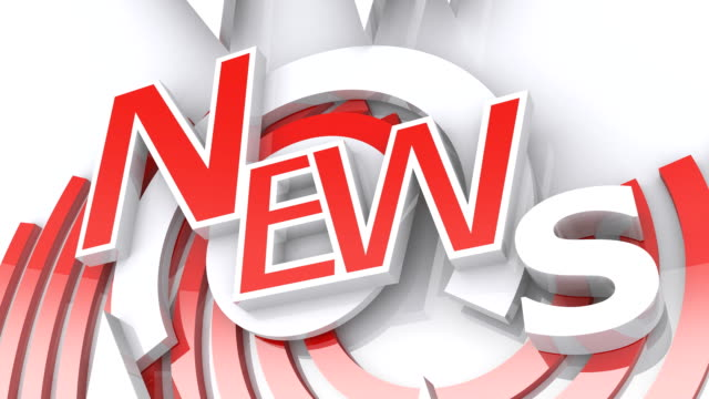 The Word NEWS in Red and White (2 versions)