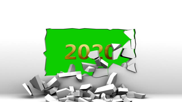 """the words """"2020"""" appear in the broken wall - appearance stock videos & royalty-free footage"""