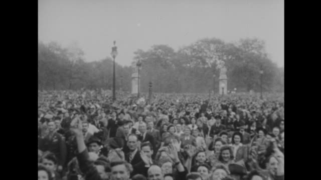 the world celebrates germany's defeat - ve day stock-videos und b-roll-filmmaterial