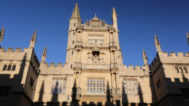 the world famous bodleian library in oxford, uk. - bodleian library stock videos and b-roll footage