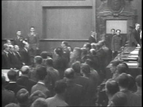 the world holds nazi war criminals to account at the 1946 nuremburg trials. - legal trial stock videos & royalty-free footage