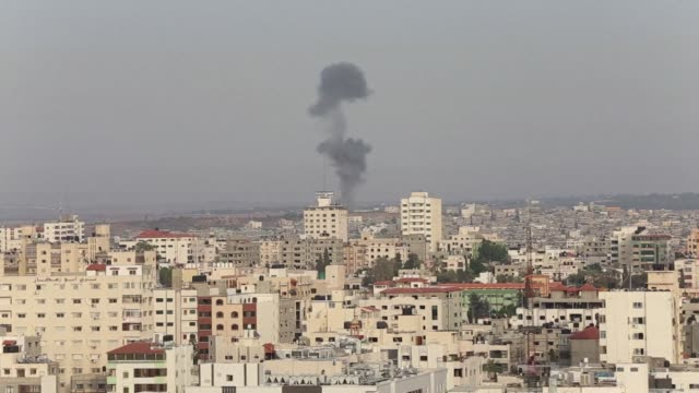 the world implored israel and hamas to end hostilities saturday but the violence escalated with the toll in israeli strikes rising to 157 and gaza... - hamas stock videos & royalty-free footage