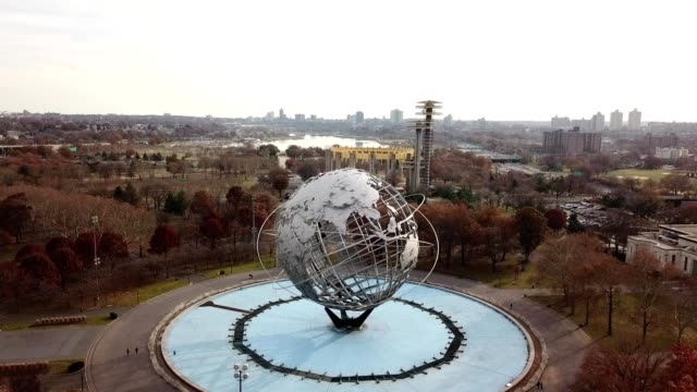 the world in flushing park queens - flushing queens stock videos and b-roll footage