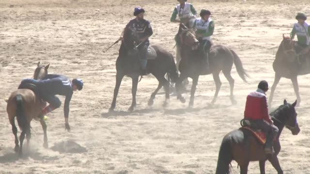 the world nomad games are underway in ex-soviet kyrgyzstan - nomadic people stock videos & royalty-free footage