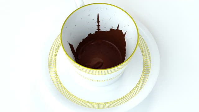 the world of turkish coffee - fortune telling stock videos & royalty-free footage