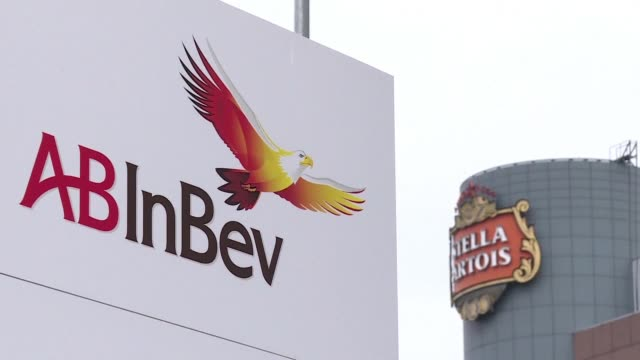 the world s top brewer anheuser busch inbev clinched wednesday a gigantic formal $121billion deal for its nearest rival sabmiller in the third... - anheuser busch inbev stock videos and b-roll footage