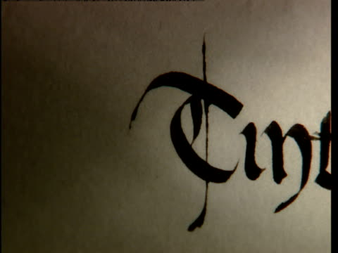 the world tintagel is written with a fountain pen. - pen stock videos & royalty-free footage