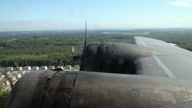 The World War II Era Boeing B17 nicknamed Memphis Belle as it flies over the Virginia countryside on September 1 2014 in Roanoke Virginia Though it...