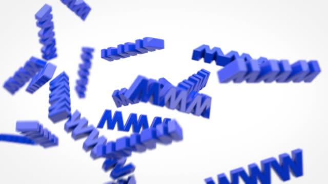 vídeos de stock, filmes e b-roll de o world wide web-site www brilhante azul (full hd - full hd format