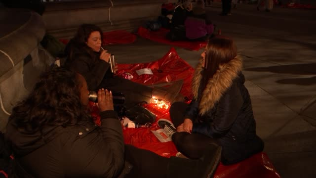 the world's big sleep out charity event highlights plight of rough sleepers england london trafalgar square musicians on stage people in sleeping... - sleeping stock videos & royalty-free footage