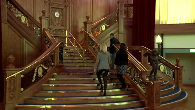 the world's biggest titanic visitor attraction opens in the ship's belfast birthplace on saturday, 100 years to the day since the doomed liner was... - titanic belfast stock videos & royalty-free footage