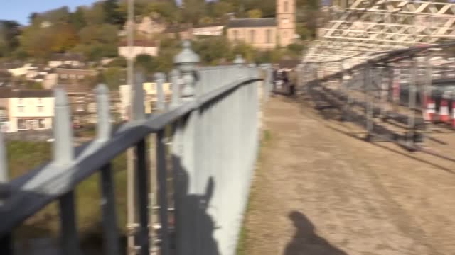 the world's first iron bridge an important symbol of the industrial revolution is being repaired as part of a £3m restoration project english... - industrial revolution stock videos & royalty-free footage