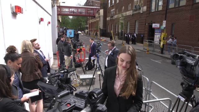 The world's media has converged on St Mary's Hospital in Paddington where the Duchess of Cambridge is giving birth
