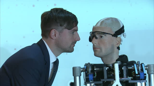 the world's most advanced bionic man has been unveiled complete with artificial organs synthetic blood and robotic limbs it's not quite the... - prosthetic equipment stock videos & royalty-free footage