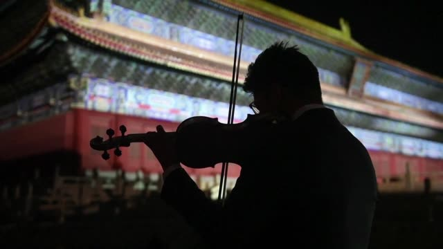 the world's oldest classical record label deutsche grammophon marks its 120th anniversary with a special concert in the imperial ancestral temple of... - forbidden city stock videos & royalty-free footage