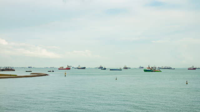 4k time lapse : the world's port of call (apple prores. 422(hq) 4096x2160 format). - south china sea stock videos & royalty-free footage