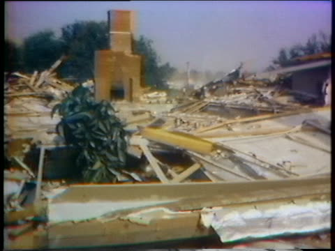 stockvideo's en b-roll-footage met the wreckage of a house in la puente, california, is all that remains after a demolition company mistakenly tears down a house because they went to... - puente