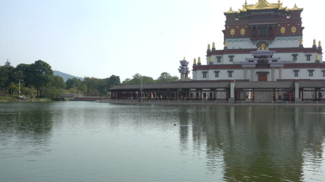 the wu-yin altar town in lingshan distric - wuxi stock videos and b-roll footage