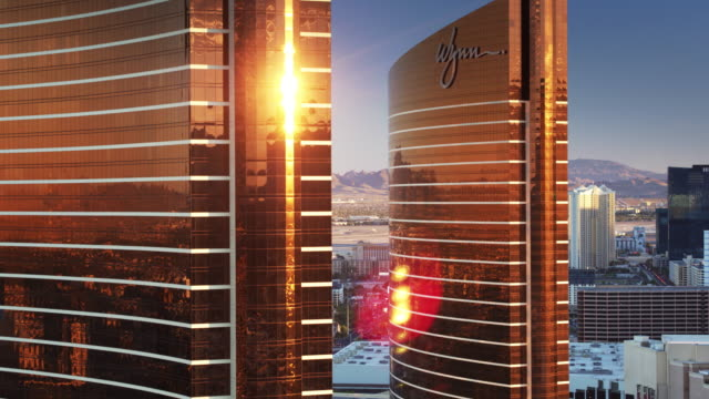 the wynn, las vegas - drone shot - panning stock videos & royalty-free footage