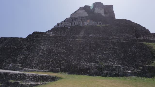 the xunantunich temple in belize - old ruin stock videos and b-roll footage