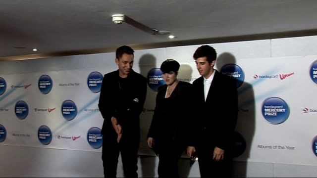 the xx win the 2010 barclaycard mercury music prize the xx onto stage oliver sim press conference sot hasn't sunk in it's incredible so incredible... - croft stock videos & royalty-free footage