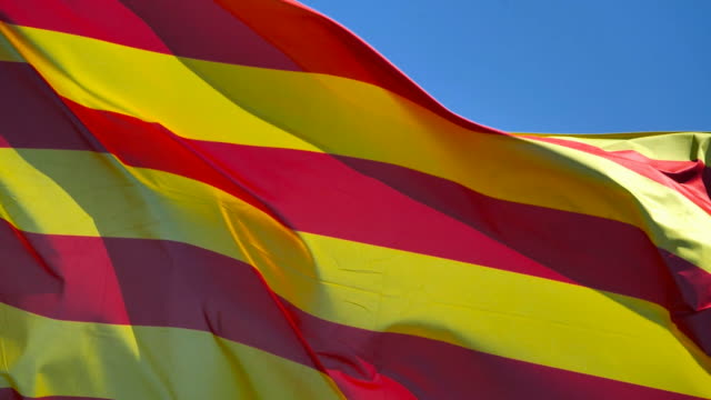 The yellow and red flag of Catalonia, Europe
