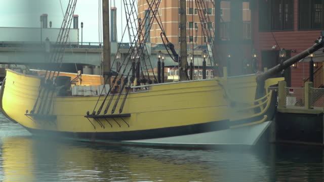 the yellow ship the beaver - anchored stock videos & royalty-free footage