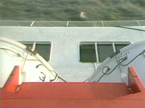 the zeebrugge ferry lays on its side following its capsizing - capsizing stock videos and b-roll footage