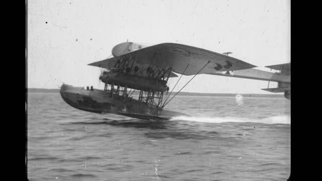 the zeppelin-lindau rs.iii was a large four-engined monoplane flying boat designed by claudius dornier and built during 1917 on the german side of... - wwi tank stock videos & royalty-free footage