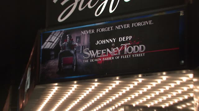 The Zigfield Theatre at the 'Sweeney Todd The Demon Barber of Fleet Street' New York Premiere at Ziegfeld Theatre in New York New York on December 3...