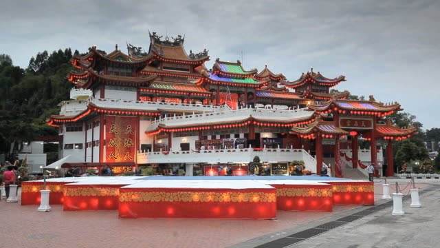 thean hou chinese temple, kuala lumpur, malaysia, southeast asia, asia - temple building stock videos & royalty-free footage