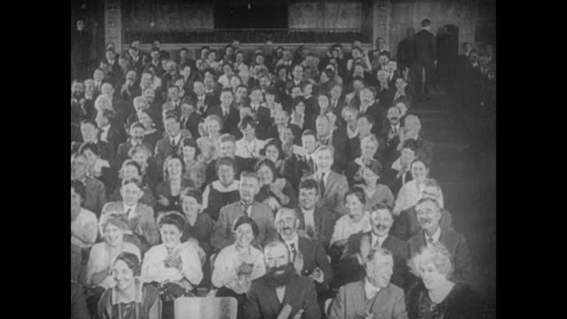 1922 theater audience clapping - silent film stock videos & royalty-free footage