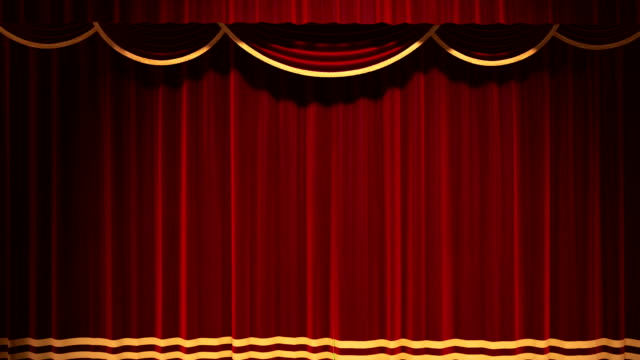 Theater Curtain Open Chroma Key Background