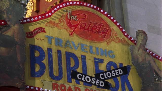 cu la theater marquee - burlesque stock videos & royalty-free footage