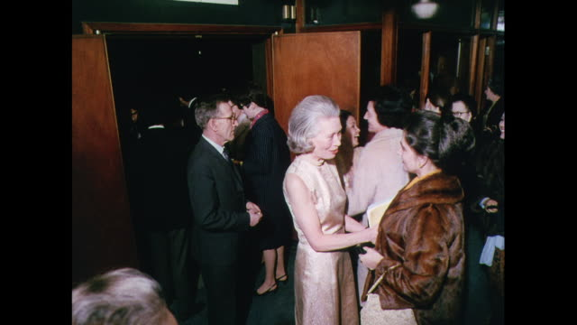 montage theater reception in london / united kingdom - evening gown stock videos and b-roll footage
