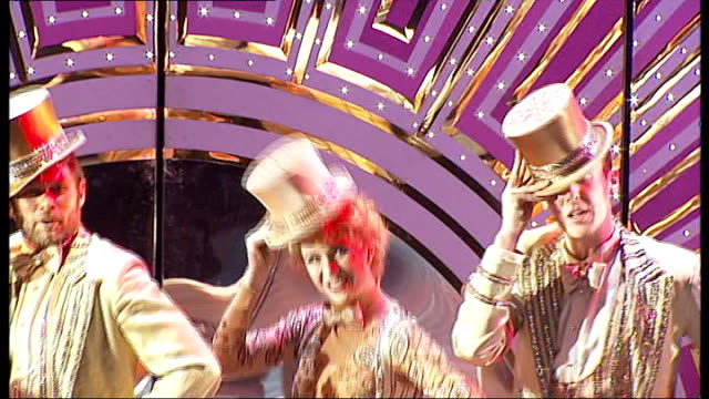 'A Chorus Line' reopens in West End Various of cast of 'A Chorus Line' on stage performing 'One '