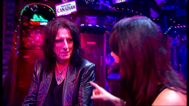 Alice Cooper joins cast of 'Rock Of Ages' for a night Cooper interview SOT