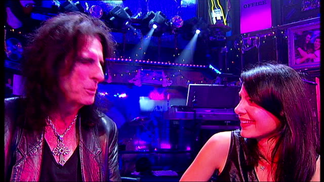 Alice Cooper joins cast of 'Rock Of Ages' for a night London Alice Cooper interview SOT