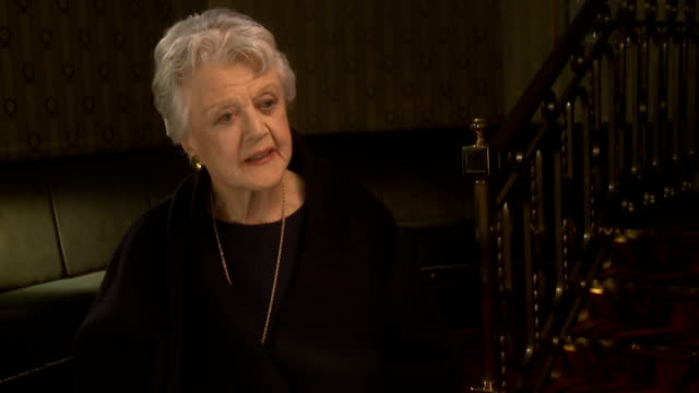 Angela Lansbury interview ENGLAND London INT Dame Angela Lansbury interview SOT