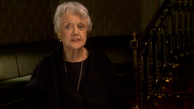 Angela Lansbury to appear in 'Blithe Spirit' ENGLAND London INT Dame Angela Lansbury interview SOT On being back in London / her mother performed at...