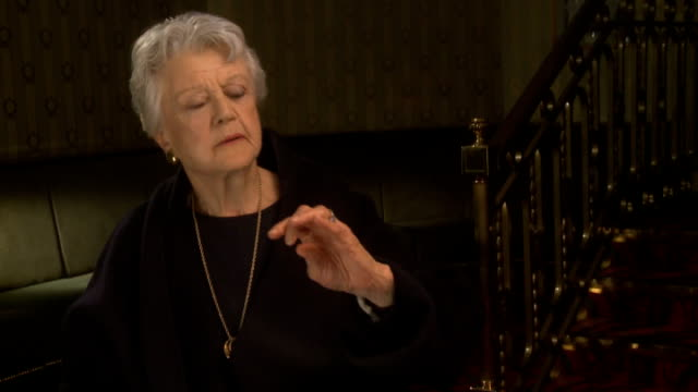 Angela Lansbury to appear in 'Blithe Spirit' London INT Lansbury interview SOT On Poplar / hopes she's an honorary cockney