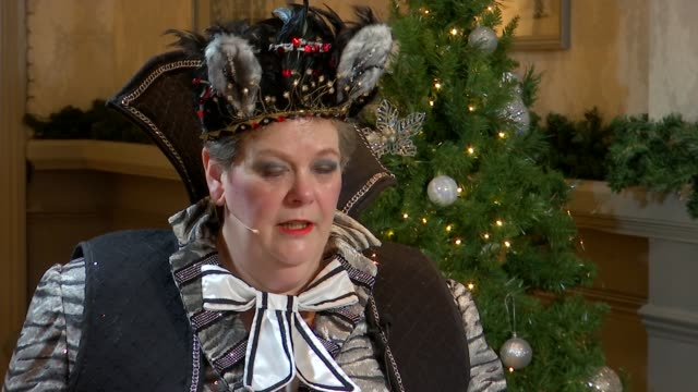 anne hegerty stars in dick whittington pantomime england berkshire windsor theatre royal int anne hegerty interview sot on being on 'i'm a... - i'm a celebrity... get me out of here stock videos & royalty-free footage