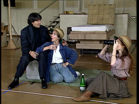 arthur miller: 'the ride down mount morgan':; england: london: national youth theatre rehearsal rooms: seq actors rehearsing 'the ride down mount... - tom conti stock videos & royalty-free footage