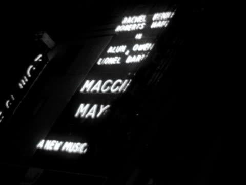 british musicals ***also england london adelphi theatre gvs adelphi theatre with neon sign for 'maggie may' starring rachel roberts kenneth haigh... - adelphi theatre stock videos & royalty-free footage