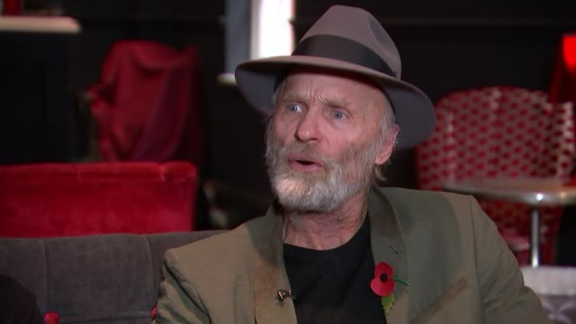 'buried child': ed harris and amy madigan interview; england: london: int madigan and harris interview sot - amy madigan stock videos & royalty-free footage