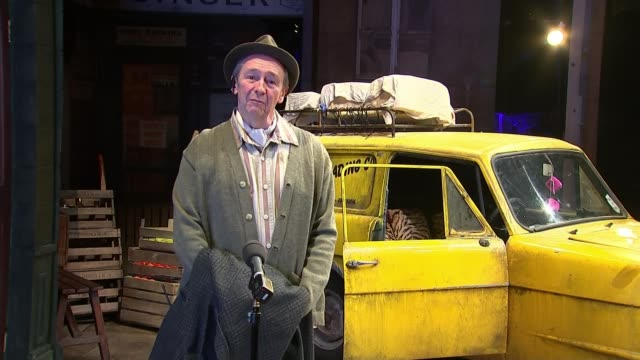cast of only fools and horses musical takes part in protest in solidarity with theatre industry; england: london: int paul whitehouse 2 way interview... - theatre royal haymarket stock videos & royalty-free footage