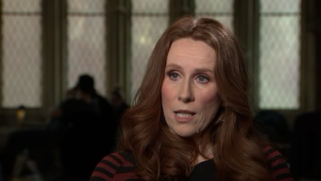 "catherine tate stars in new musical ""miss atomic bomb""; england: london: st james theatre: int catherine tate minterview sot - part satire, but it is... - satire stock videos & royalty-free footage"