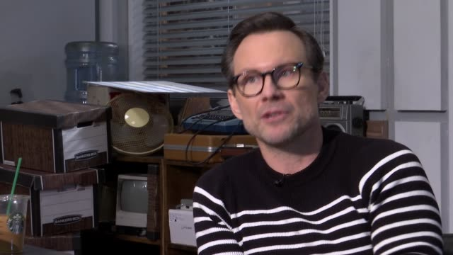 christian slater interview christian slater interview sot on loving london / bringing his dog fish over - christian slater stock videos & royalty-free footage