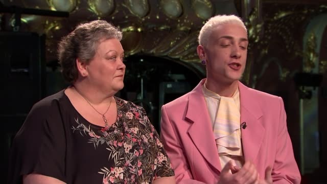 'Everybody's Talking About Jamie' musical Jamie Campbell interview ENGLAND London INT Jamie Campbell and Margaret Campbell interview SOT