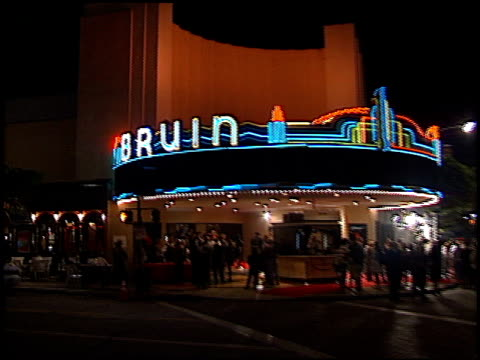 Theatre Exterior at the 'Beloved' Premiere at the Bruin Theatre in Westwood California on October 12 1998